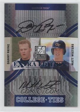 2007 Donruss Elite Extra Edition College Ties Signatures [Autographed] #CT-8 - Danny Payne, Matt Wieters /100