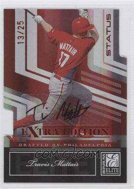 2007 Donruss Elite Extra Edition Status Die-Cut Signatures [Autographed] #40 - Travis Mattair /25
