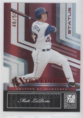 2007 Donruss Elite Extra Edition Status Die-Cut #119 - Matt LaPorta /50
