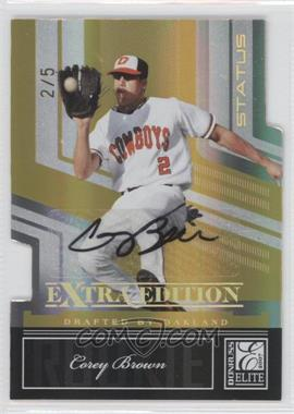 2007 Donruss Elite Extra Edition Status Gold Die-Cut Signatures [Autographed] #143 - Corey Brown /5
