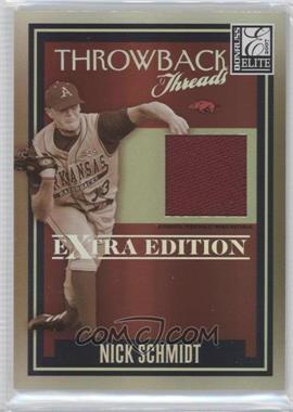 2007 Donruss Elite Extra Edition Throwback Threads #TT-NS - Nick Schmidt /500