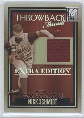 2007 Donruss Elite Extra Edition Throwback Threads #TT-NS - Nick Schmidt /500