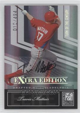 2007 Donruss Elite Extra Edition Turn of the Century Signatures [Autographed] #40 - Travis Mattair /494