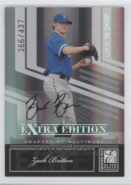 2007 Donruss Elite Extra Edition Turn of the Century Signatures [Autographed] #50 - Zach Britton /437