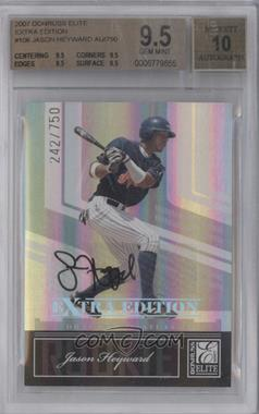 2007 Donruss Elite Extra Edition #106 - Jason Heyward /750 [BGS 9.5]