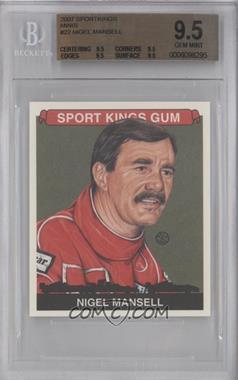 2007 Sportkings Series A - [Base] - Mini #22 - Nigel Mansell [BGS9.5]