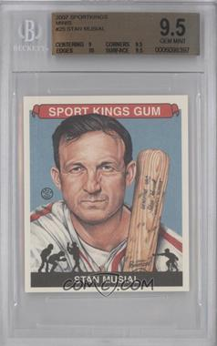 2007 Sportkings Series A - [Base] - Mini #25 - Stan Musial [BGS9.5]