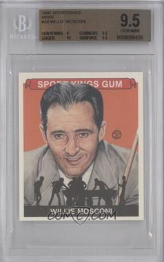 2007 Sportkings Series A - [Base] - Mini #39 - Willie Mosconi [BGS 9.5]
