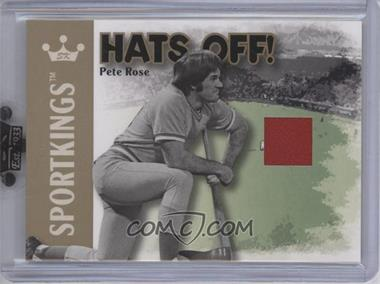 2007 Sportkings Series A - Hats Off - Gold #HO-07 - Pete Rose