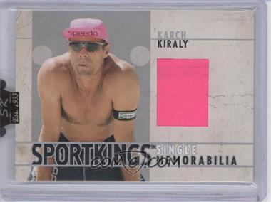 2007 Sportkings Series A - Single Memorabilia - Silver #SM-08 - Karch Kiraly