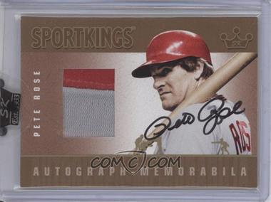 2007 Sportkings Series A Autograph Memorabilia Gold #AM-PRO - Pete Rose