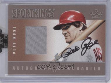 2007 Sportkings Series A Autograph Memorabilia Silver #AM-PRO - Pete Rose