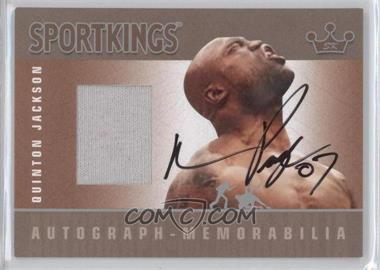 2007 Sportkings Series A Autograph Memorabilia Silver #AM-QJ - Quinton Jackson