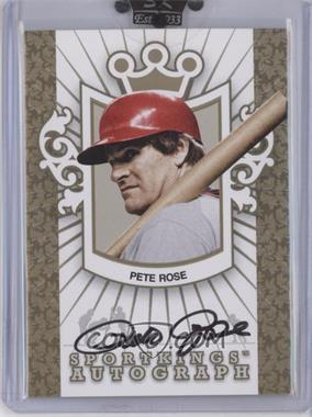 2007 Sportkings Series A Autographs Gold #A-PRO - Pete Rose