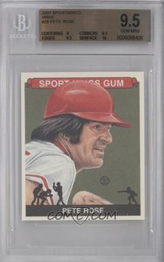 2007 Sportkings Series A Mini #28 - Pete Rose [BGS 9.5]
