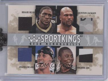 2007 Sportkings Series A Quad Memorabilia Silver #QM-06 - Reggie Bush, Quinton Jackson, Amanda Beard, Freddy Adu