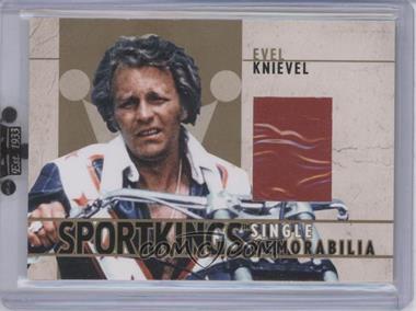 2007 Sportkings Series A Single Memorabilia Gold #SM-05 - Evel Knievel