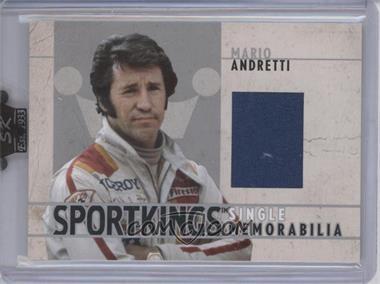 2007 Sportkings Series A Single Memorabilia Silver #SM-10 - Mario Andretti