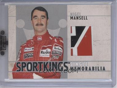 2007 Sportkings Series A Single Memorabilia Silver #SM-15 - Nigel Mansell