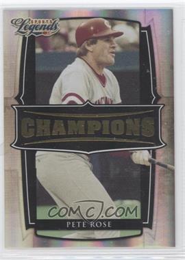 2008 Donruss Americana Sports Legends - Champions - Gold #C-9 - Pete Rose /100
