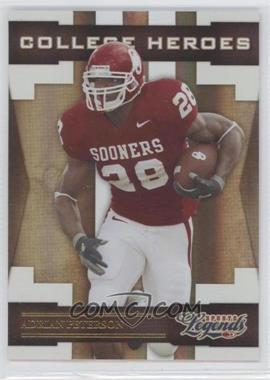 2008 Donruss Americana Sports Legends - College Heroes - Gold #CH-3 - Adrian Peterson /100