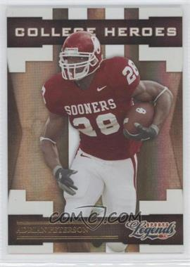 2008 Donruss Americana Sports Legends College Heroes Gold #CH-3 - Adrian Peterson /100