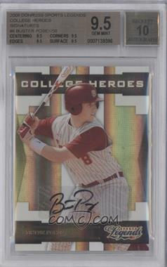 2008 Donruss Americana Sports Legends College Heroes Signatures [Autographed] #CH-8 - Buster Posey /50 [BGS 9.5]