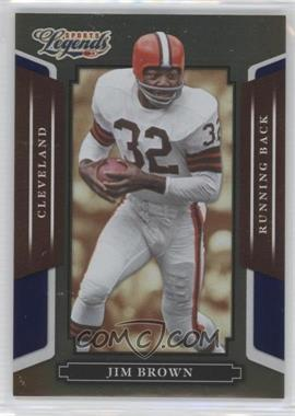 2008 Donruss Americana Sports Legends Mirror Blue #2 - Jim Brown /100