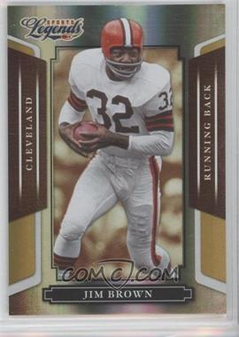 2008 Donruss Americana Sports Legends Mirror Gold #2 - Jim Brown /25