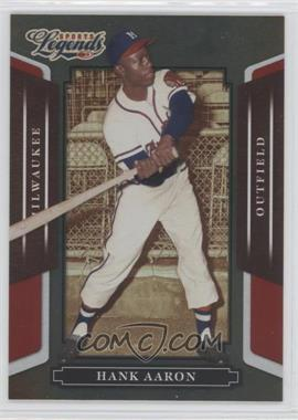 2008 Donruss Americana Sports Legends Mirror Red #10 - Hank Aaron /250