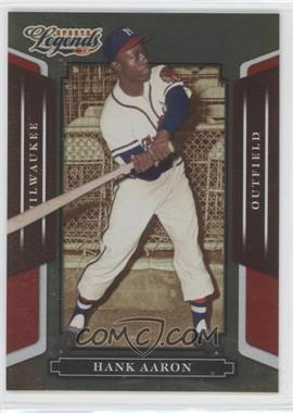 2008 Donruss Americana Sports Legends Mirror Red #10 - Hank Aaron /250