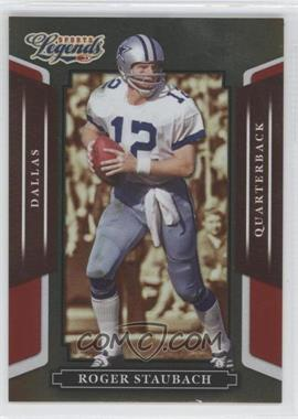 2008 Donruss Americana Sports Legends Mirror Red #41 - Roger Staubach /250