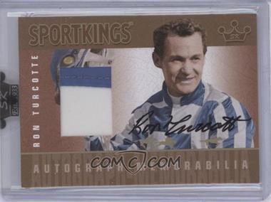 2008 Sportkings Series B - Autograph - Memorabilia - Gold #AM-RT2 - Ron Turcotte /10