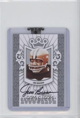 2008 Sportkings Series B - Autographs - Silver #A-JBR1 - Jim Brown /90