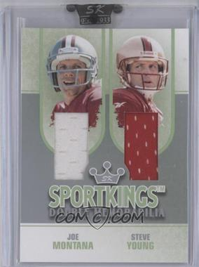 2008 Sportkings Series B - Double Memorabilia - Silver #DM-11 - Steve Young