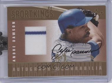 2008 Sportkings Series B Autograph - Memorabilia Gold [Autographed] #AM-AD - Andre Dawson