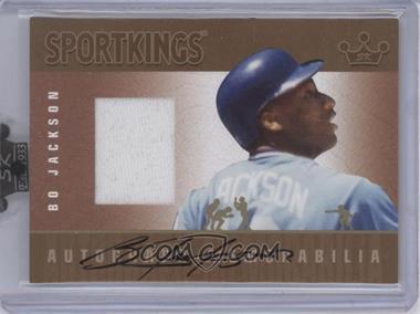 2008 Sportkings Series B Autograph - Memorabilia Gold [Autographed] #AM-BJ2 - Bo Jackson /10