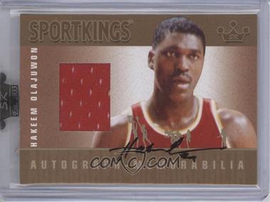 2008 Sportkings Series B Autograph - Memorabilia Gold [Autographed] #AM-HO - Hakeem Olajuwon /10
