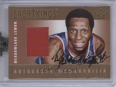 2008 Sportkings Series B Autograph - Memorabilia Gold [Autographed] #AM-MLE1 - Meadowlark Lemon /10