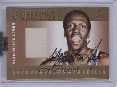 2008 Sportkings Series B Autograph - Memorabilia Gold [Autographed] #AM-MLE2 - Meadowlark Lemon