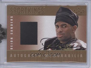 2008 Sportkings Series B Autograph - Memorabilia Gold #AM-DSA2 - Deion Sanders /10