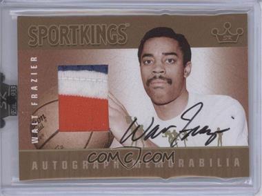 2008 Sportkings Series B Autograph - Memorabilia Gold #AM-WF2 - Walt Frazier /10