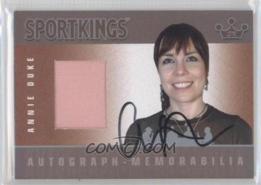 2008 Sportkings Series B Autograph - Memorabilia Silver [Autographed] #AM-ADU1 - Annie Duke