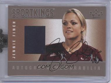 2008 Sportkings Series B Autograph - Memorabilia Silver [Autographed] #AM-JFI - Jennie Finch