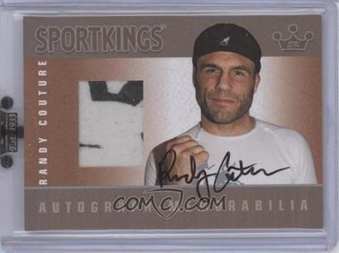 2008 Sportkings Series B Autograph - Memorabilia Silver [Autographed] #AM-RCO2 - Randy Couture