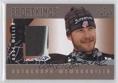 2008 Sportkings Series B Autograph - Memorabilia Silver #AM-BM2 - Bode Miller