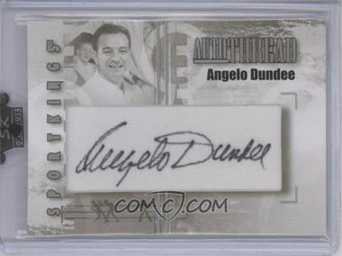 2008 Sportkings Series B Autothread Silver #AT-AD - Angelo Dundee /9