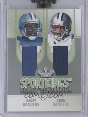 2008 Sportkings Series B Double Memorabilia Silver #DM-06 - Barry Sanders, Deion Sanders