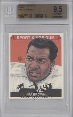 2008 Sportkings Series B Mini #50 - Jim Brown [BGS 9.5]