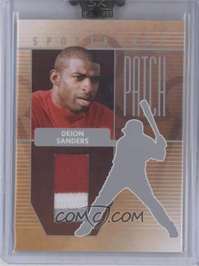 2008 Sportkings Series B Patch Silver #P-13 - Deion Sanders